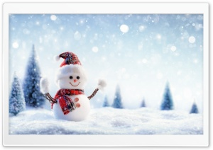 Christmas Snowman Crafts HD Wide Wallpaper for Widescreen