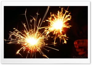 Christmas Sparkler HD Wide Wallpaper for Widescreen