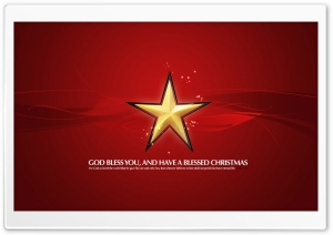 Christmas Star Red HD Wide Wallpaper for Widescreen