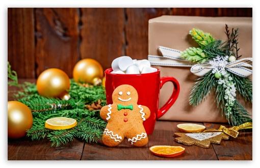Christmas Sweets Gingerbread Man Hot Chocolate Gift Fir