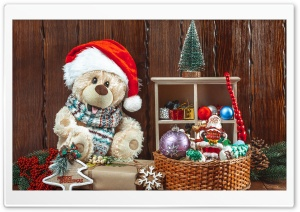 Christmas, Teddy Bear, Toys, Gifts Ultra HD Wallpaper for 4K UHD Widescreen desktop, tablet & smartphone