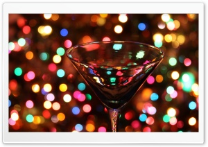Christmas Through A Martini Glass HD Wide Wallpaper for 4K UHD Widescreen desktop & smartphone