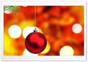Christmas Tree Ball HD Wide Wallpaper for Widescreen