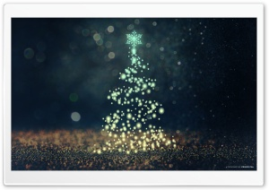 Christmas Tree Bokeh HD Wide Wallpaper for 4K UHD Widescreen desktop & smartphone