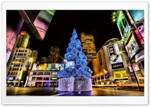 Christmas Tree, City HD Wide Wallpaper for Widescreen