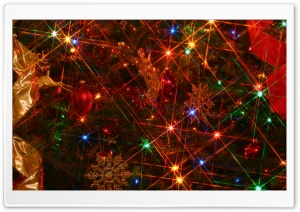 Christmas Tree Lights HD Wide Wallpaper for Widescreen