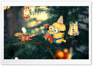 Christmas Tree Minion HD Wide Wallpaper for Widescreen
