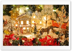 Christmas Village HD Wide Wallpaper for Widescreen