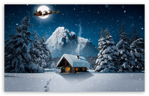 Download Christmas Winter 4K HD Wallpaper