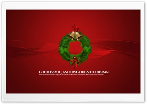 Christmas Wreath Red HD Wide Wallpaper for 4K UHD Widescreen desktop & smartphone