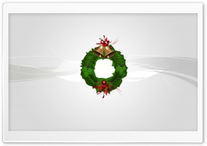 Christmas Wreath Silver HD Wide Wallpaper for Widescreen