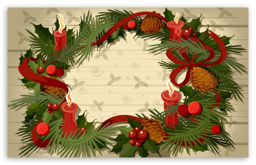 Christmas Wreath Vector HD wallpaper for Wide 16:10 5:3 Widescreen WHXGA WQXGA WUXGA WXGA WGA ; HD 16:9 High Definition WQHD QWXGA 1080p 900p 720p QHD nHD ; Standard 3:2 Fullscreen DVGA HVGA HQVGA devices ( Apple PowerBook G4 iPhone 4 3G 3GS iPod Touch ) ; Mobile 5:3 3:2 16:9 - WGA DVGA HVGA HQVGA devices ( Apple PowerBook G4 iPhone 4 3G 3GS iPod Touch ) WQHD QWXGA 1080p 900p 720p QHD nHD ;