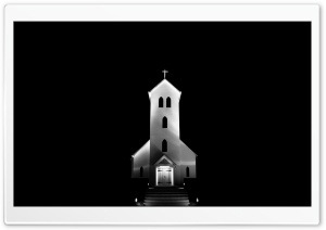 Church at Night, Iceland HD Wide Wallpaper for 4K UHD Widescreen desktop & smartphone