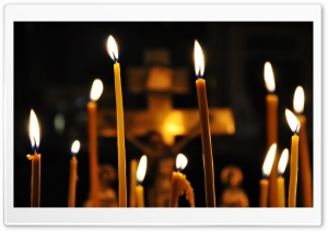 Church Candles HD Wide Wallpaper for Widescreen
