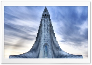 Church In Reikjavik, Iceland HD Wide Wallpaper for Widescreen