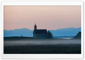 Church In The Fog HD Wide Wallpaper for Widescreen
