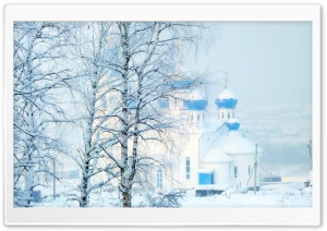 Church In Winter HD Wide Wallpaper for 4K UHD Widescreen desktop & smartphone