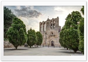 Church of Sant Esteve Peratallada, Catalonia HD Wide Wallpaper for 4K UHD Widescreen desktop & smartphone