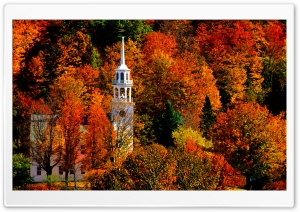 Church, Strafford, Vermont HD Wide Wallpaper for Widescreen