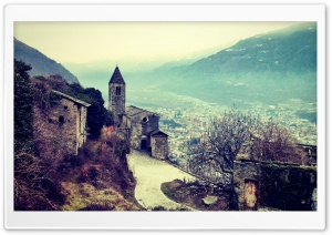Church Valtellina HD Wide Wallpaper for Widescreen