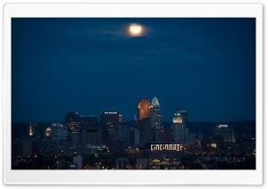 Cincinnati At Night HD Wide Wallpaper for 4K UHD Widescreen desktop & smartphone