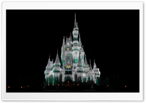 Cinderella Castle at Christmas HD Wide Wallpaper for 4K UHD Widescreen desktop & smartphone