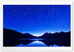 Circle Star Trails HD Wide Wallpaper for Widescreen