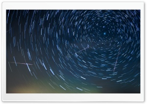 Circular Star Trails HD Wide Wallpaper for Widescreen