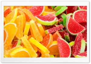 Citrus Fruit Gummy Jelly Candies Sugar Coated Ultra HD Wallpaper for 4K UHD Widescreen desktop, tablet & smartphone