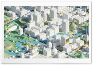City 3D Ultra HD Wallpaper for 4K UHD Widescreen desktop, tablet & smartphone