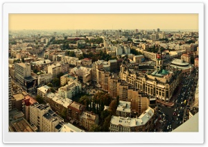 City Aerial View HD Wide Wallpaper for Widescreen