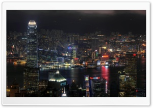City At Night HD Wide Wallpaper for Widescreen
