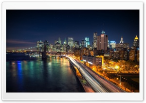 City at Night HD Wide Wallpaper for 4K UHD Widescreen desktop & smartphone