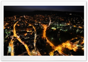 City At Night   Aerial View HD Wide Wallpaper for Widescreen