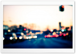 City Bokeh Lights HD Wide Wallpaper for Widescreen