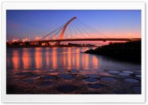 City Bridge At Sunset HD Wide Wallpaper for 4K UHD Widescreen desktop & smartphone