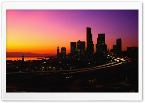 City Dusk HD Wide Wallpaper for Widescreen