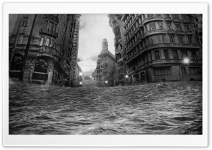 City Flood HD Wide Wallpaper for Widescreen