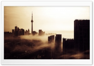 City Fog HD Wide Wallpaper for Widescreen