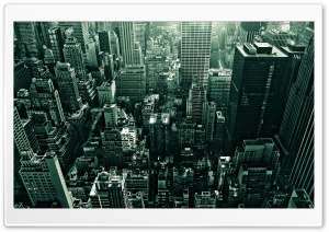 City From Above HD Wide Wallpaper for 4K UHD Widescreen desktop & smartphone