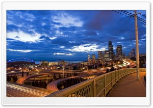 City Highway Long Exposure HD Wide Wallpaper for Widescreen