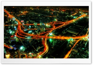 City Highways Night HD Wide Wallpaper for Widescreen