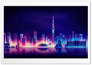 City Illustration HD Wide Wallpaper for Widescreen