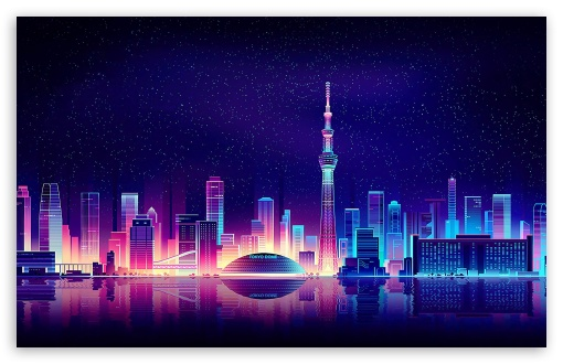 City Illustration ❤ 4K UHD Wallpaper for Wide 16:10 5:3 Widescreen WHXGA WQXGA WUXGA WXGA WGA ; 4K UHD 16:9 Ultra High Definition 2160p 1440p 1080p 900p 720p ; Mobile 5:3 - WGA ;