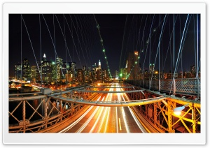 City Light Trails HD Wide Wallpaper for Widescreen