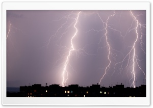 City Lightning HD Wide Wallpaper for 4K UHD Widescreen desktop & smartphone