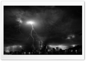 City Lightnings HD Wide Wallpaper for Widescreen