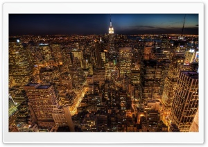 City Lights Aerial View HD Wide Wallpaper for Widescreen