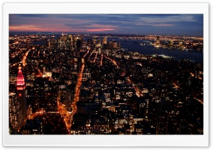 City Lights At Night HD Wide Wallpaper for Widescreen