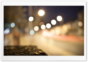 City Lights Bokeh HD Wide Wallpaper for Widescreen